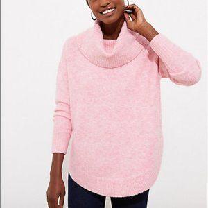 Loft Ann Taylor Plus Cowl Neck Poncho Sweater EUC